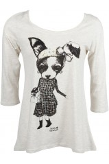 T-SHIRT MOLLY BRACKEN Manches 3/4