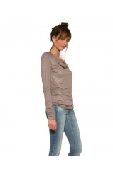 Top manches Longues Les P'tites Bombes W150202 Taupe