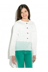 GUESS veste courte LS JACKET Blanc