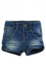 SHORT NAME IT ANJA Mini Denim Slim Medium Blue Denim