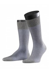Chaussettes Fine Shadow Light Grey Melange