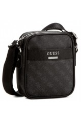 Guess Bandoulière Uptown Logo Mini Document Noir