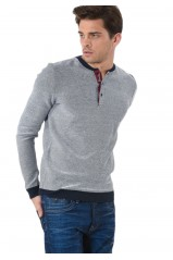 Kaporal Pull Dety Patrio Gris Chiné