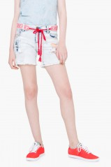 Desigual Short Capricorni Denim Bleach 74D2JB5
