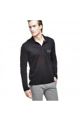 Guess Polo Homme Manches Longues Rufo Noir