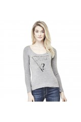 Guess Pull Femme Pia Gris
