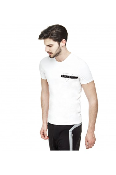 Guess T-Shirt Homme Blanc