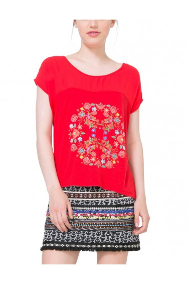 Desigual T-Shirt Kukita Rojo Country Rouge 71T2YT9 (sp)