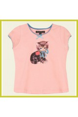 Petit Louie T Shirt Kitty Rose 01939