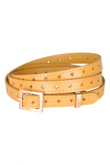 King Louie Ceinture Belt Star Mustard Jaune 02368
