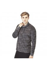Guess Pull Nigel L/S Crew Neck Fleece Gris
