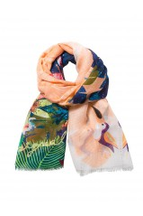 Desigual Foulard Rectangle Corail 74W9EF4