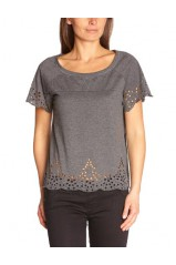 Véro Moda T-Shirt joy patila  gris 10091900