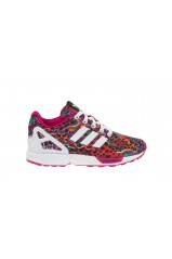 Baskets Adidas ZX Flux EL I White/Pink