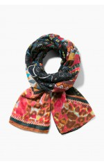 Desigual Foulard Rectangle Misha Teja Corail 17WAWFG0