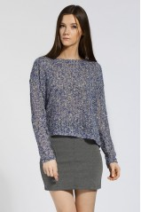 VERO MODA PULL BLEU METAL CRUSH