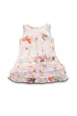 Robe GUESS Fluide Butterfly Blanc