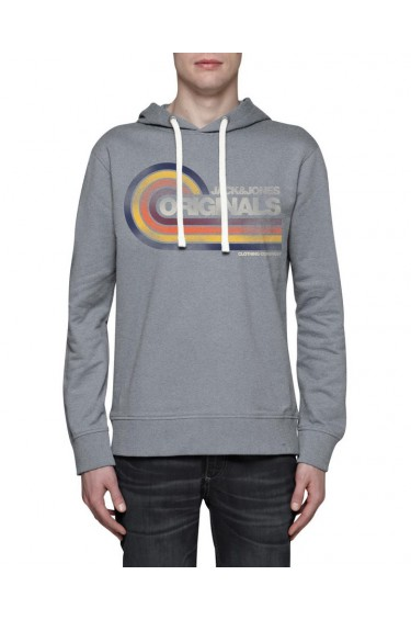 Sweat Jack & Jones orange hood light grey (sp)