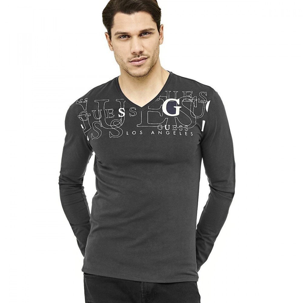 Guess Tee-Shirt Homme manches longues The