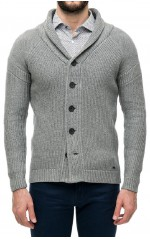 Guess Cardigan Homme Gris
