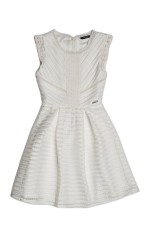 Guess Robe Fille Marciano Ajourée Blanc