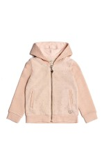 Guess Sweat Zippé Fille K73Q06 Rose