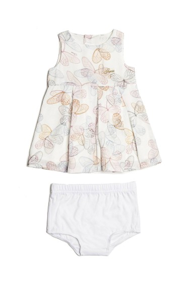 Guess Robe Fille A81K11 Blanc/Multicolre