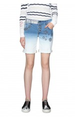 Desigual Short Madiss  Denim Wash Bleu 18SWDD25
