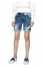 Desigual Short Denim Magali Bleu 18SWDD33