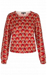 King Louie Cardigan Col rond Marigold Rouge
