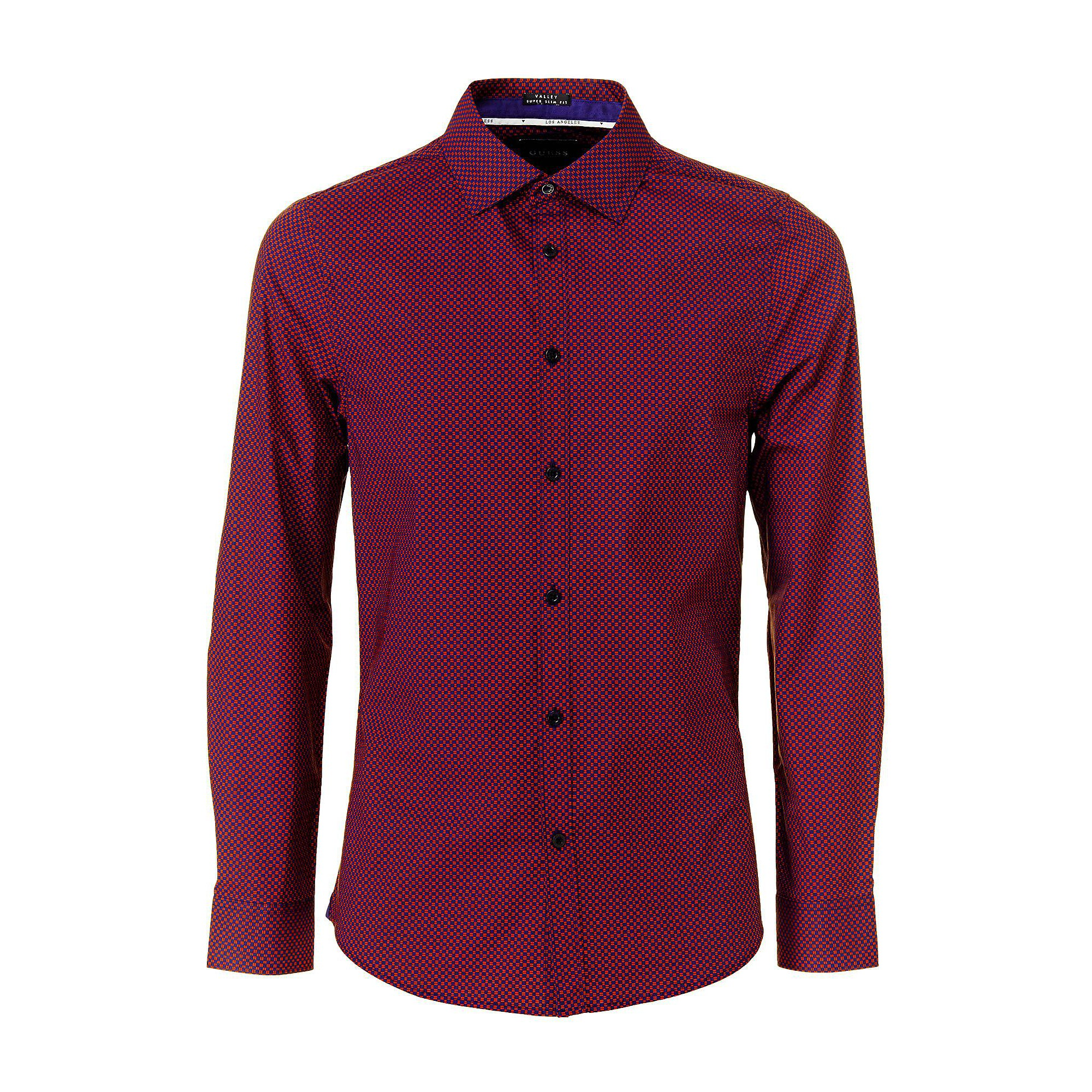 Homme Rouge Chemise Longues Valley Manches Guess gxwqanY5C