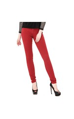 Guess Jeans Femme Skinny Curve X Rouge