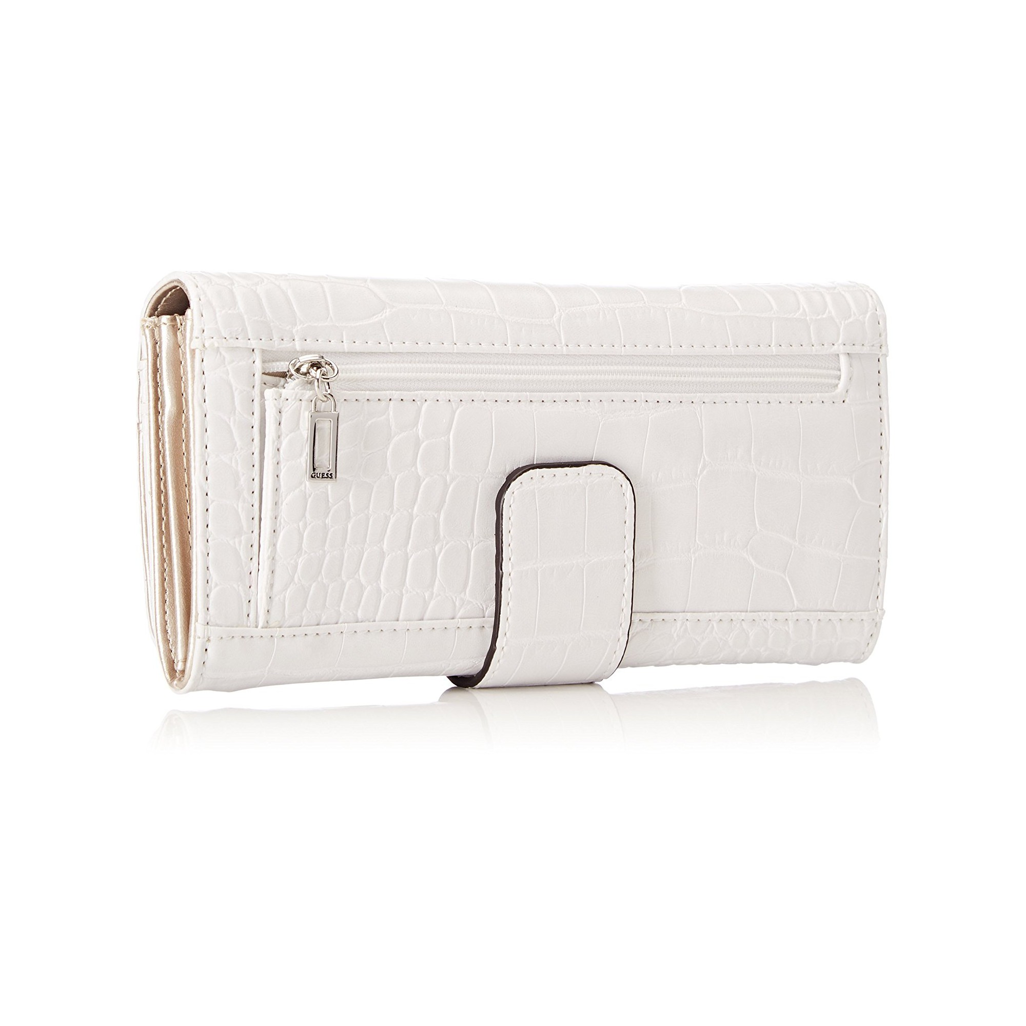 Guess Portefeuille Femme G Lux Blanc