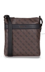 Guess Sacoche Homme Bandoulière City Logo Crossbody Marron