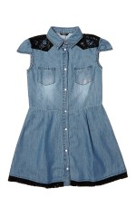 Guess Robe Fille SL Dress Bleu