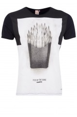 T-Shirt Japan Rags Frenchfries noir