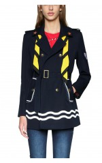 Desigual Trench Morgane Navy 18SWEW83