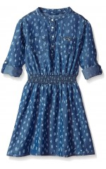Guess Robe Fille Manches ajustables Bleu