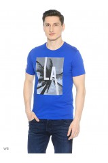 Guess Tee-Shirt Look Throufh Bleu