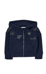 Mayoral Sweat Fille Strass Marine