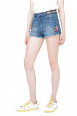 Desigual Short Ight Denim Medium Light Bleu 73D2JE5
