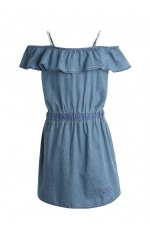 Kaporal Robe Denim Fille Fylou Bleu