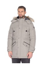 Guess Parka Homme Contemporary Gris