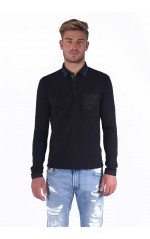 Kaporal Polo Manches Longues Homme Licty Noir