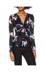 Guess TOP Floral Femme W83P48 VIRGINIA Noir