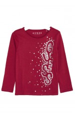 Guess T-Shirt Fille Manches Longues K83I04 Rose