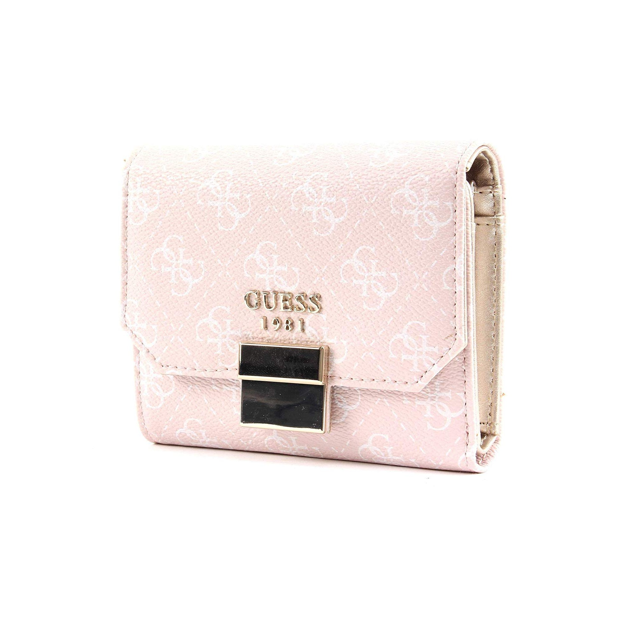 portefeuille guess rose clair