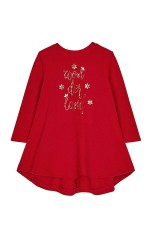 Mayoral Robe brodée Strass Rouge