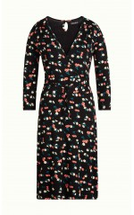King Louie Robe Cecil Dress Cherry Pie Black