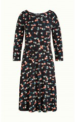 King Louie Robe Skater Dress Cherry Pie Black